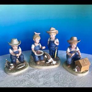 """Denim Days"" porcelain figurines"